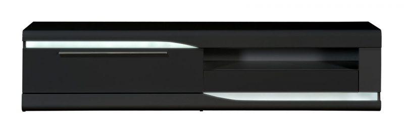 Ovio Black Gloss TV Unit 3