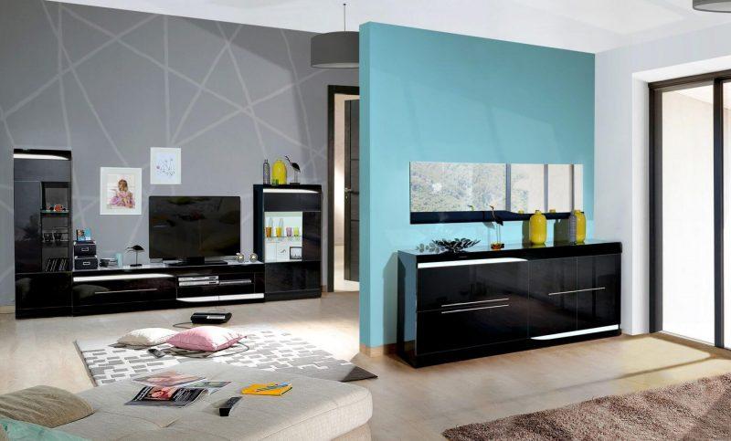 Ovio Black Gloss TV Unit 2