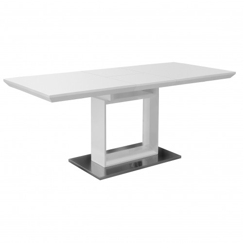 Rigby White Gloss Extending Dining Table 1