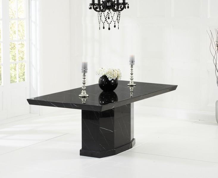 Rimini Black Marble Dining Table 2