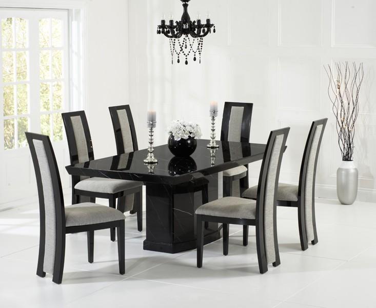 Rimini Black Marble Dining Table 5