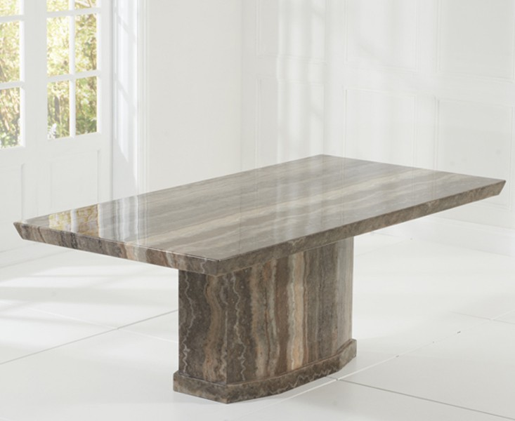 Rimini Brown Marble Dining Table 1