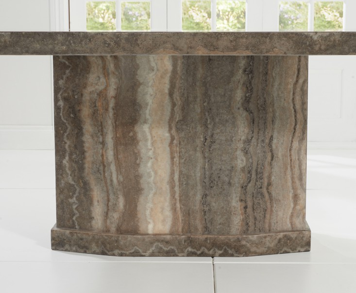 Rimini Brown Marble Dining Table 2