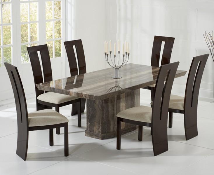 Rimini Black Marble Dining Table 6