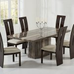 Rimini Brown Marble Dining Table 5