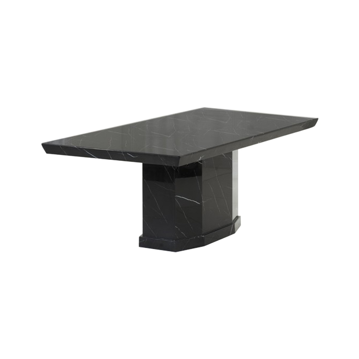Como Black Marble Dining Table 6-8 Seater
