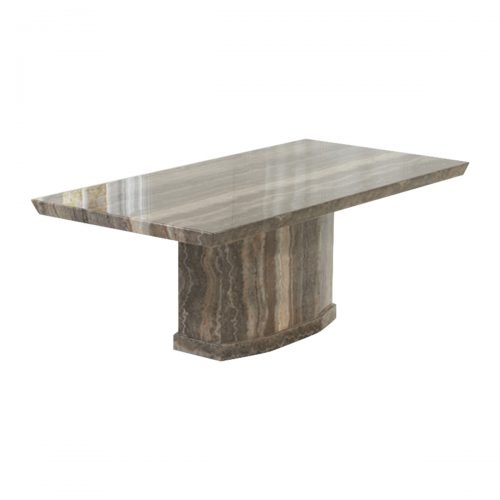 Rimini Brown Marble Dining Table