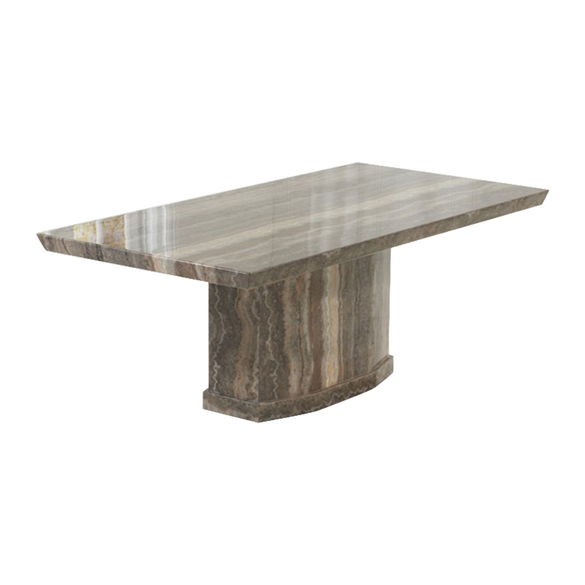 Rimini Brown Marble Dining Table 6-8 Seater