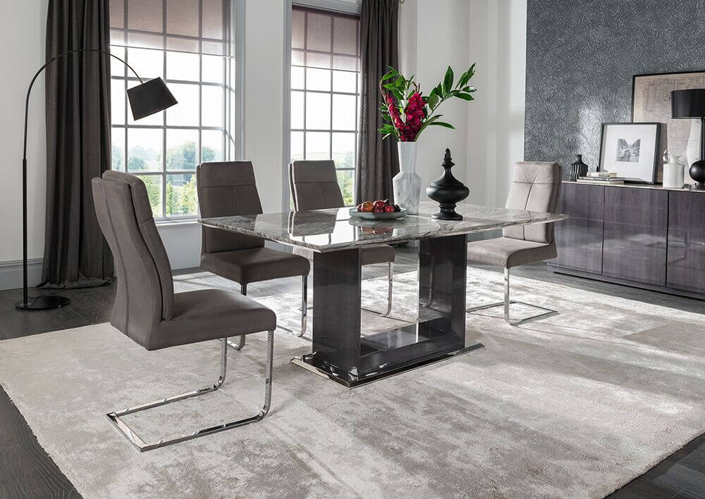 Rina 160cm Marble Dining Table 9