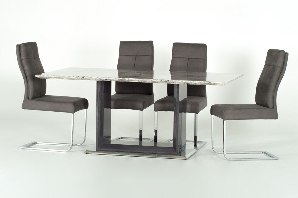 Rina 160cm Marble Dining Table 6