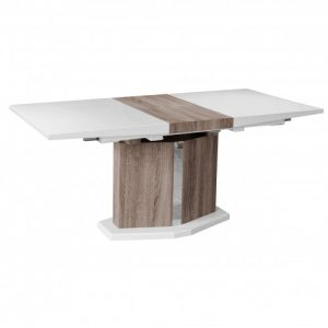 Roman Extending White Gloss Dining Table