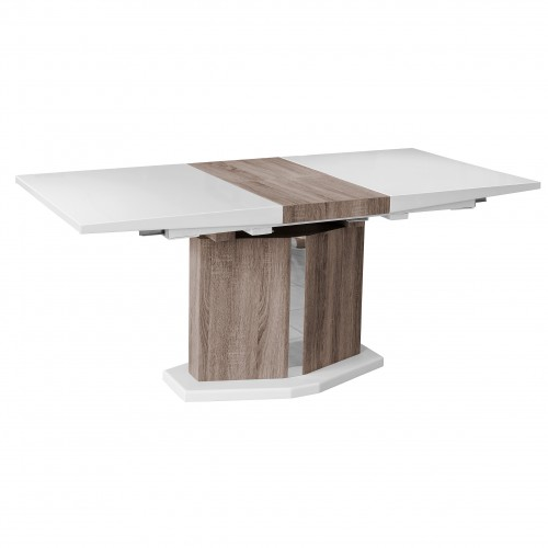 Roman White High Gloss Extending Dining Table 6 - 8 Seater