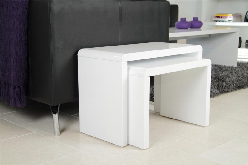 Sasha Nest of 2 Tables White Gloss 3