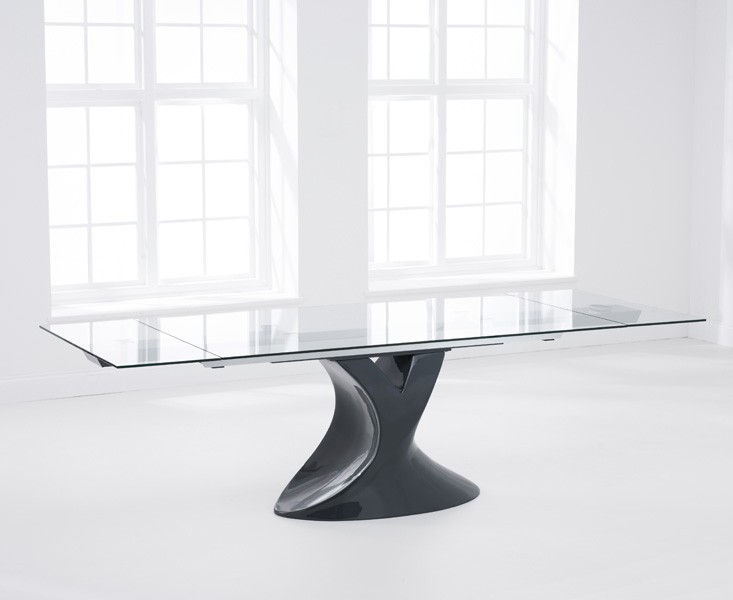 Seville Grey Glass Dining Table 3