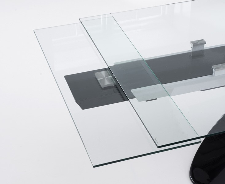 Seville Grey Glass Dining Table 5