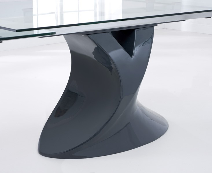 Seville Grey Glass Dining Table 4