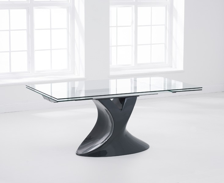 Seville Grey Glass Dining Table 2