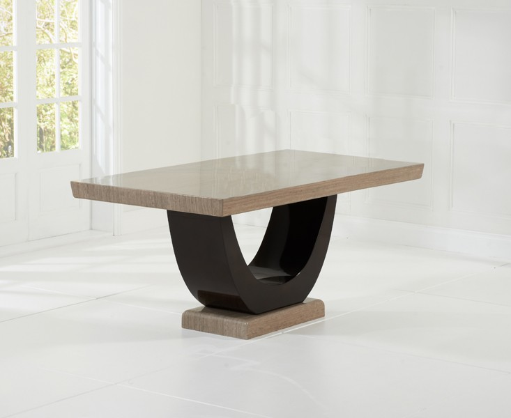 Sintra Brown Marble Dining Table 2