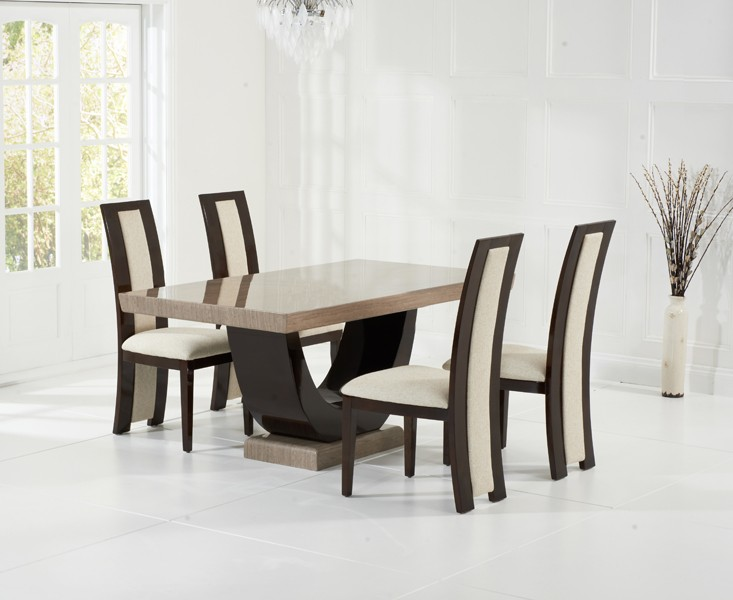 Sintra Brown Marble Dining Table 5