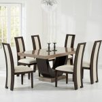Sintra Brown Marble Dining Table 6