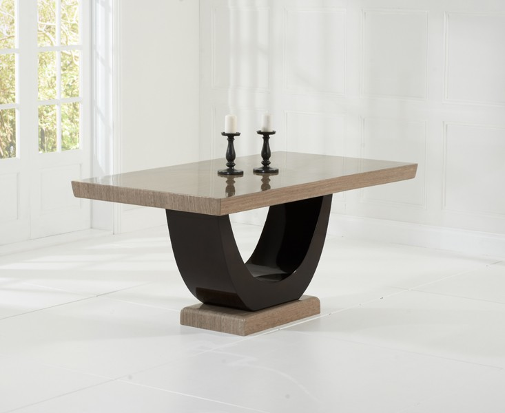 Sintra Brown Marble Dining Table 3