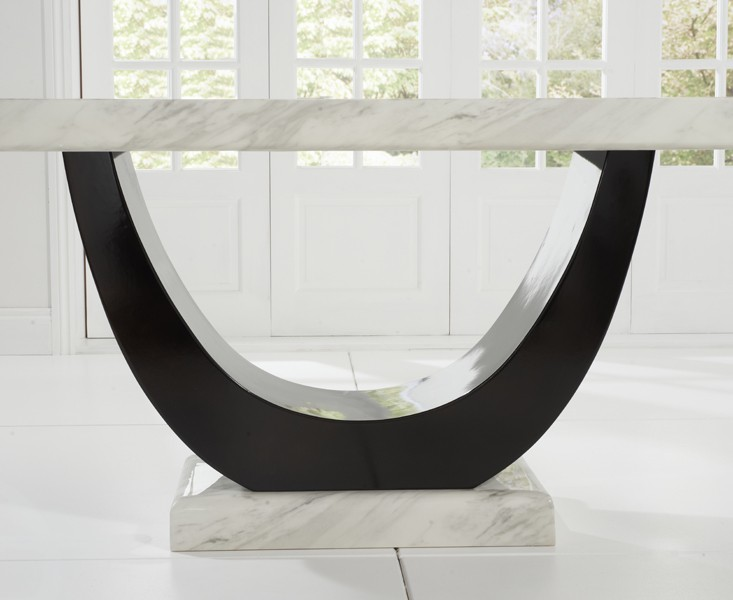 Sintra Cream & Black Marble Dining Table 3