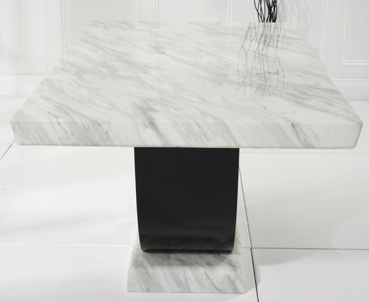 Sintra Cream & Black Marble Dining Table 6