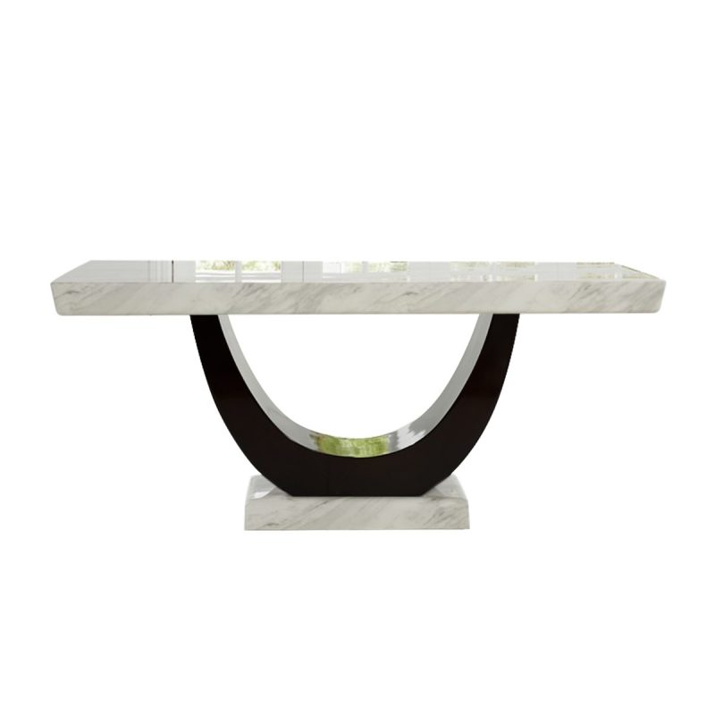 Sintra Cream & Black Marble Dining Table
