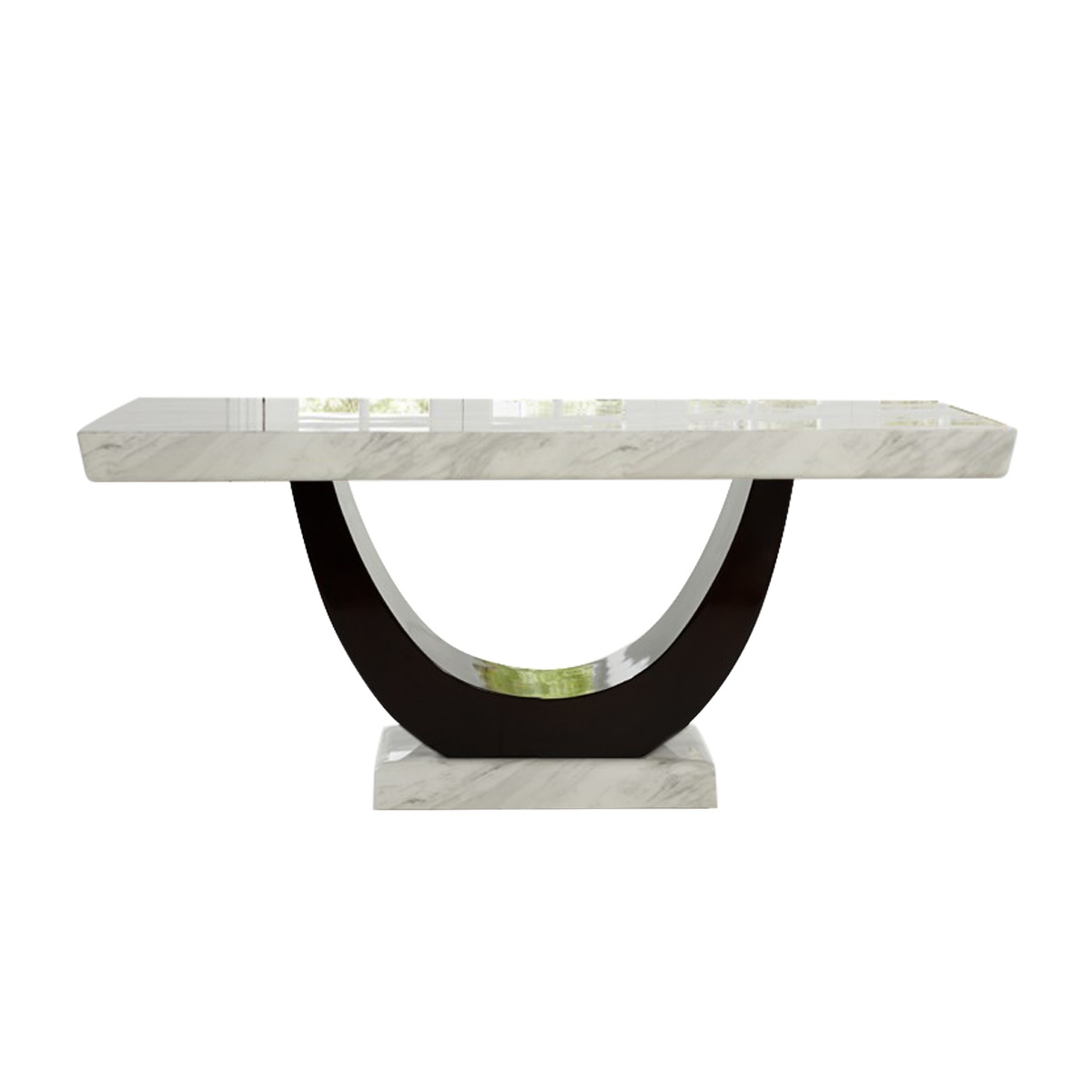 Sintra Cream & Black Marble Dining Table 6 - 8 Seater