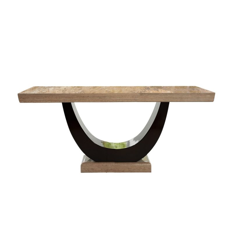 Sintra Brown Marble Dining Table