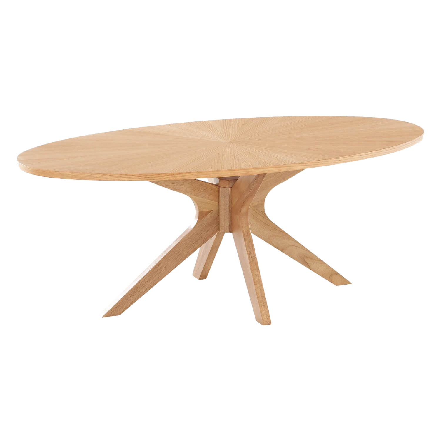 Oval Oak Coffee Table Uk: Solna Oval Solid White Oak Veneer Coffee Table