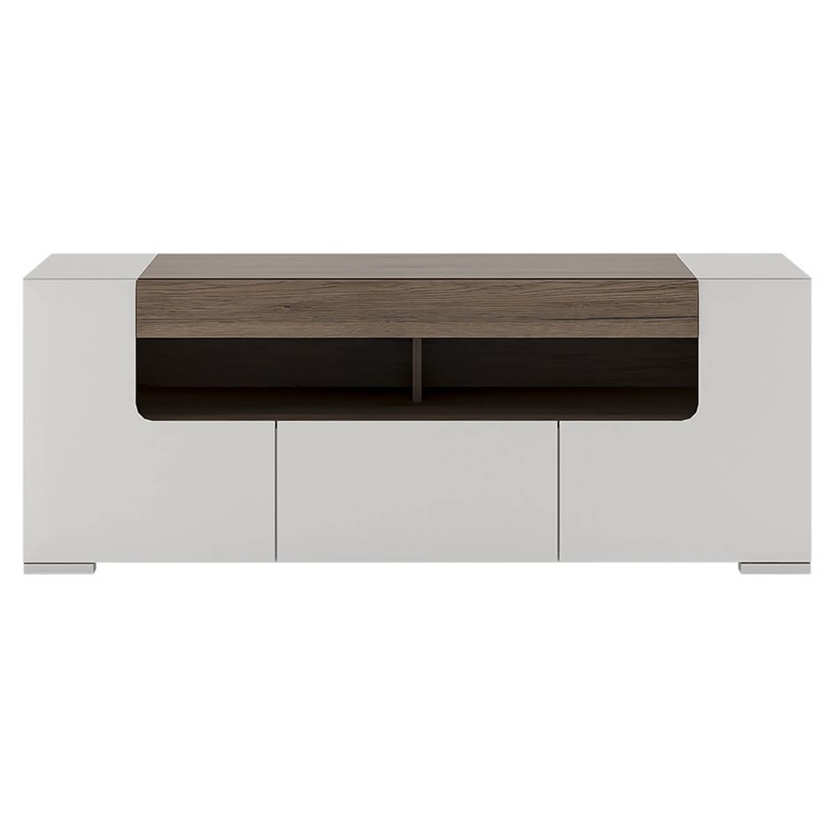 Laval Storage TV Unit 140cm White High Gloss