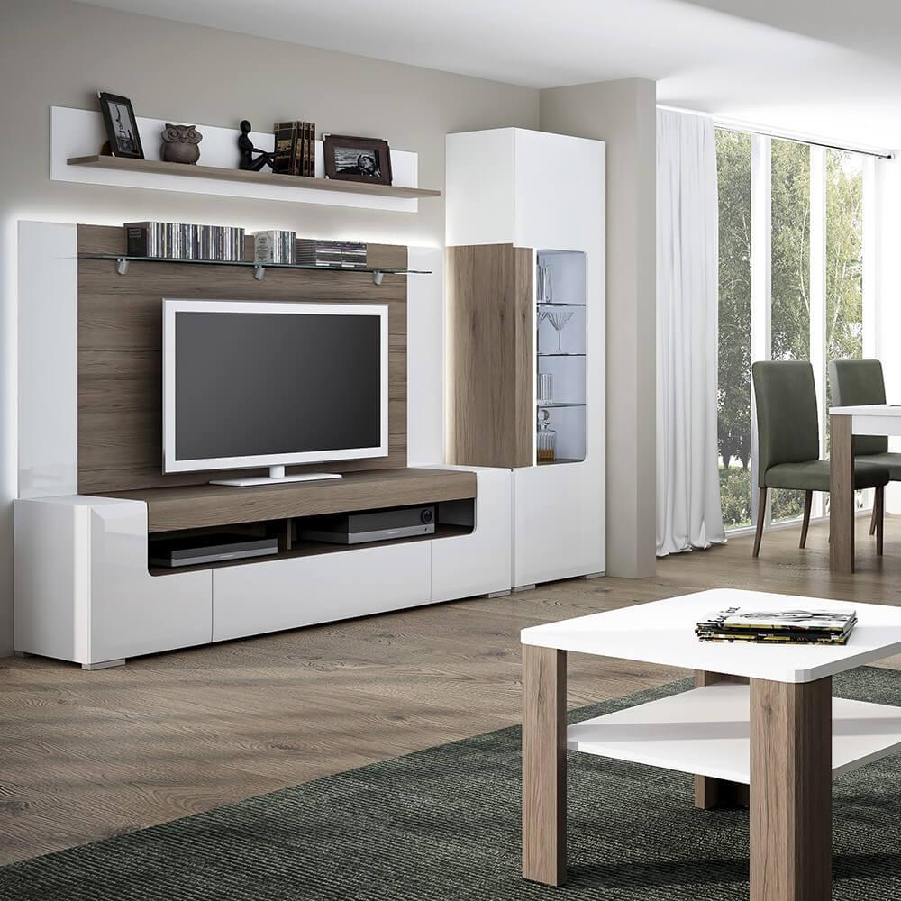Laval Wide Tv Unit White High Gloss Modern Tv Units Fads # Meuble Tv Ovio