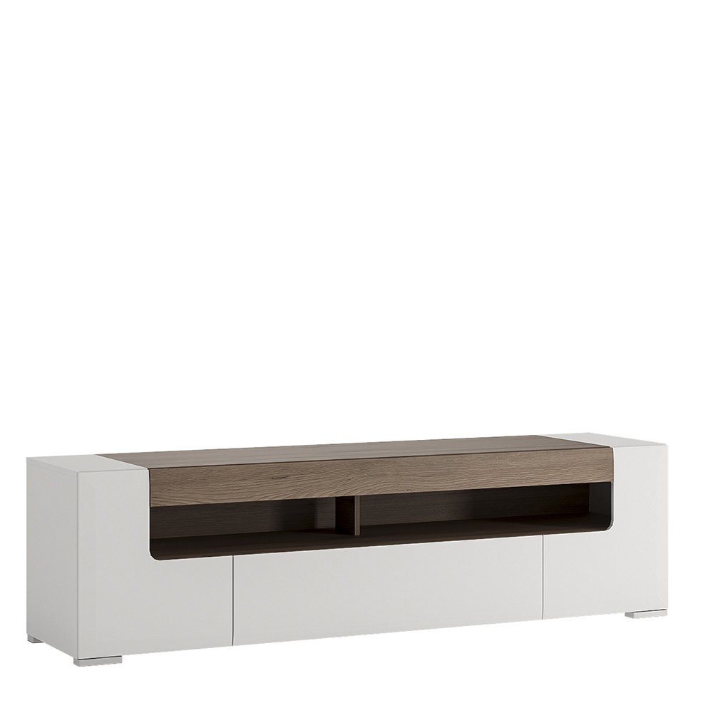 Laval Wide Tv Unit White High Gloss Modern Tv Units Fads # Solution Tv Meuble
