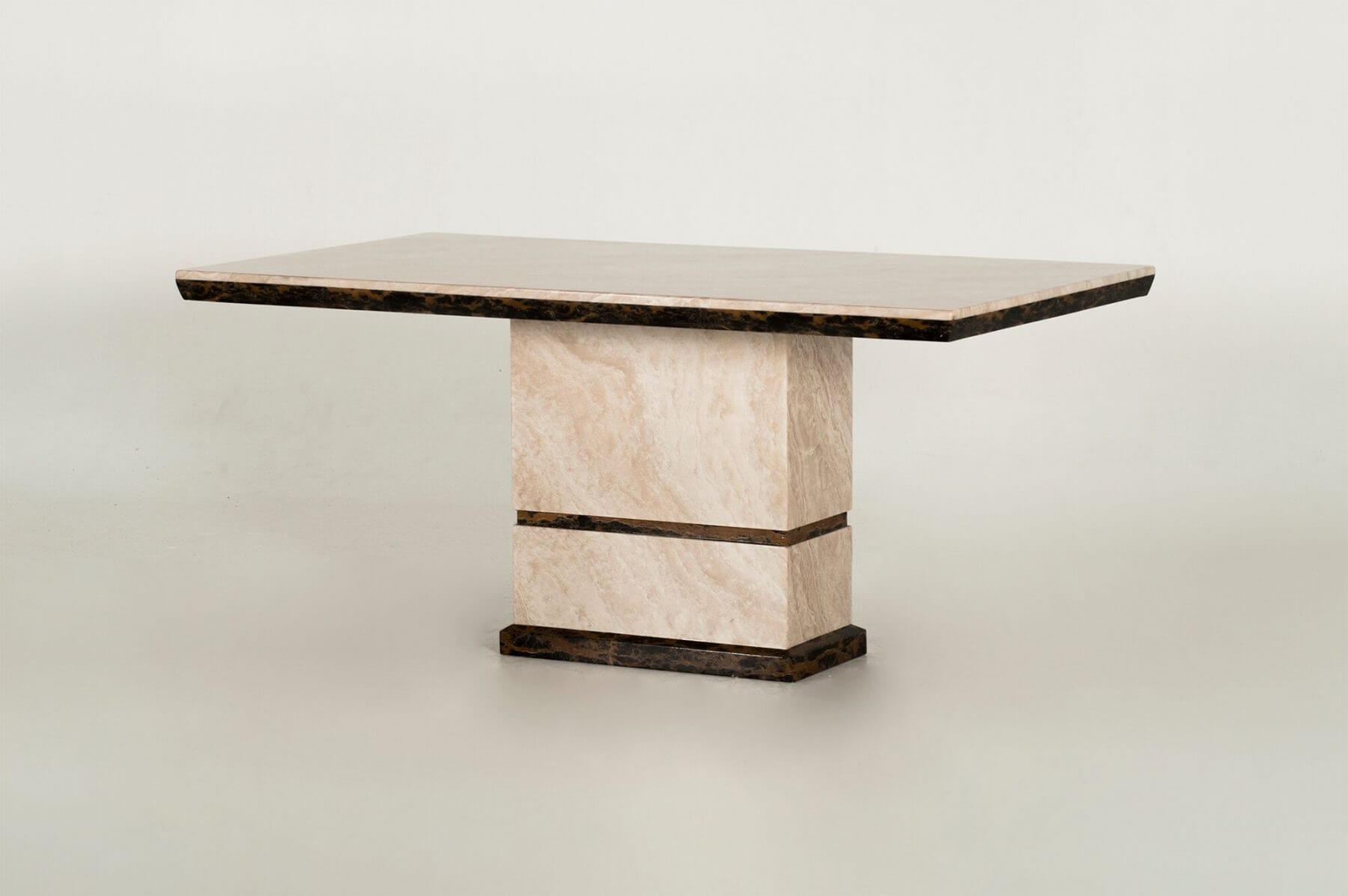 Venus Rectangular Cream Marble Dining Table