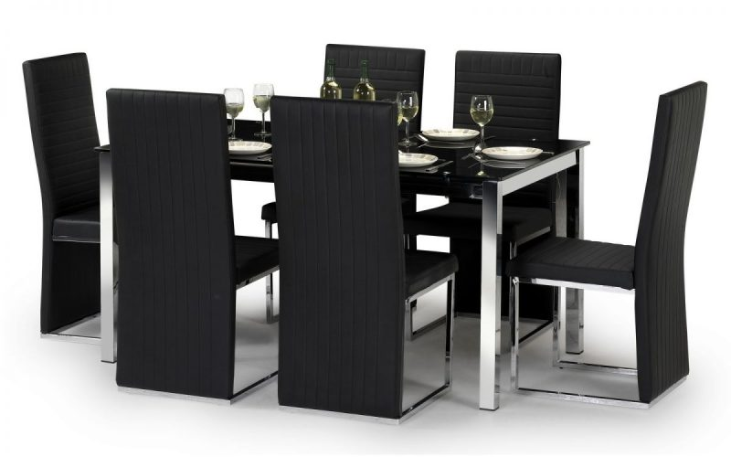 Tempo Black Faux Leather Dining Chair 2