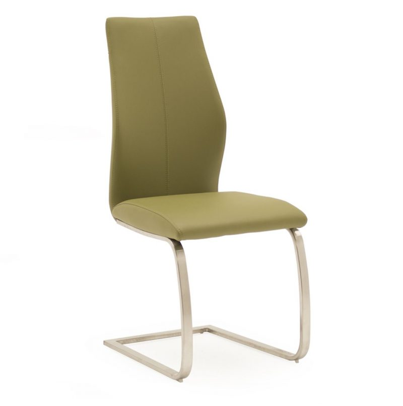 Irma Olive Faux Leather Dining Chair