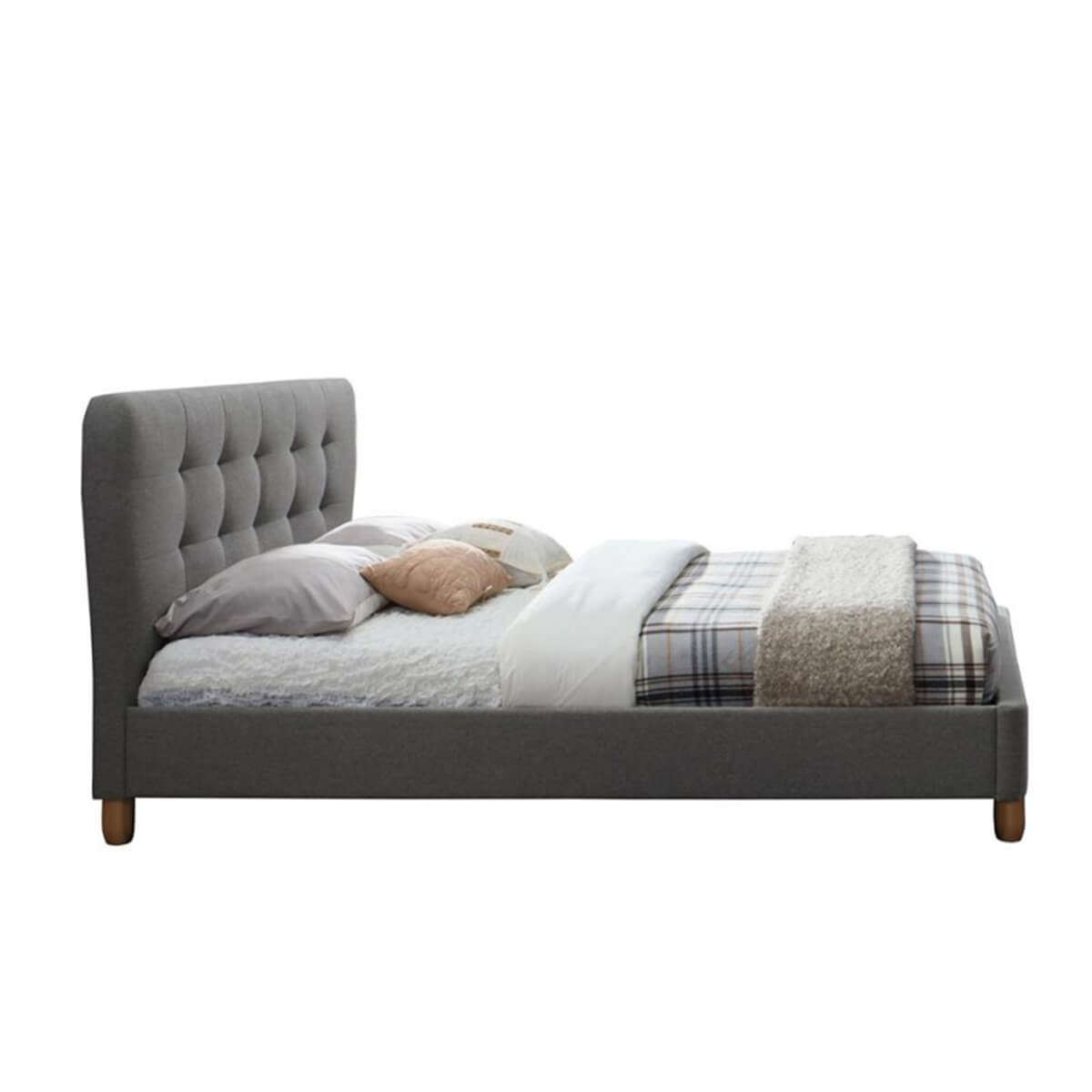 Cologne Fabric Bed Frame Grey 2