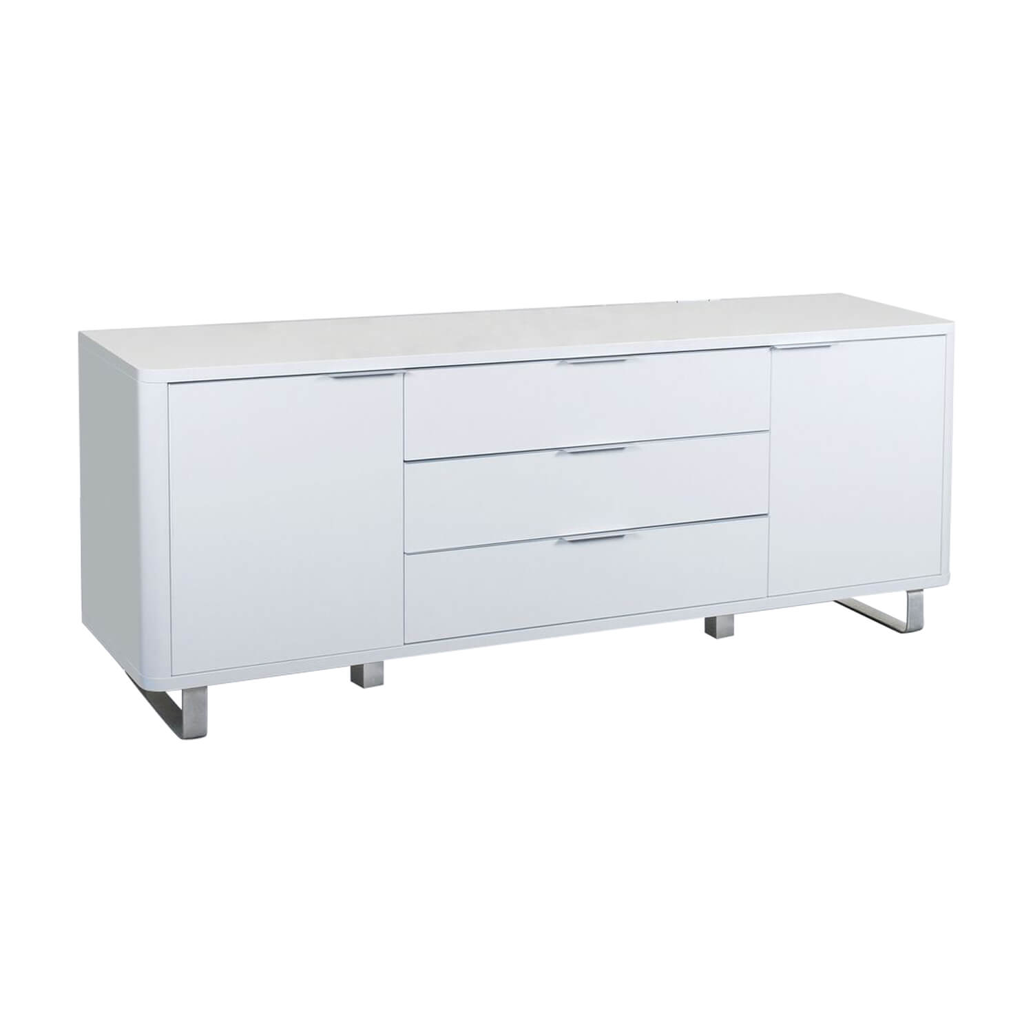 Accent Modern White Sideboard High Gloss