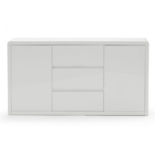 Allure Sideboard White High Gloss 2 Door 3 Drawer