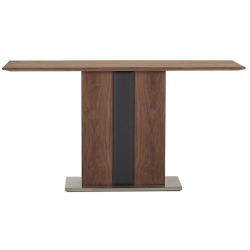 Almara Console Table Walnut & Steel