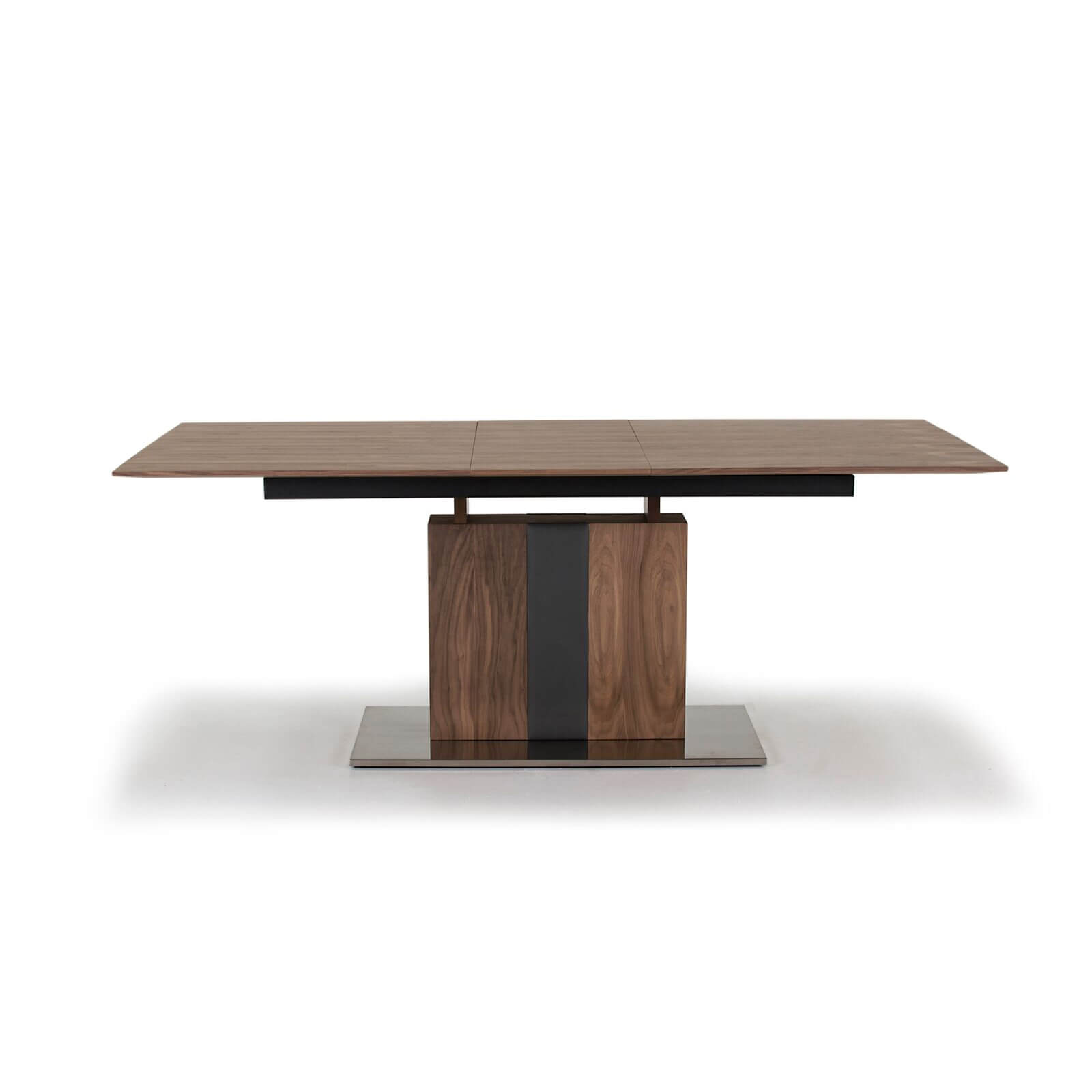 Almara Walnut and Steel Extending Dining Table 6 - 8 Seater