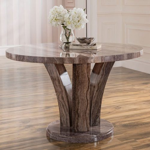 Amalfi round marble dining table 2