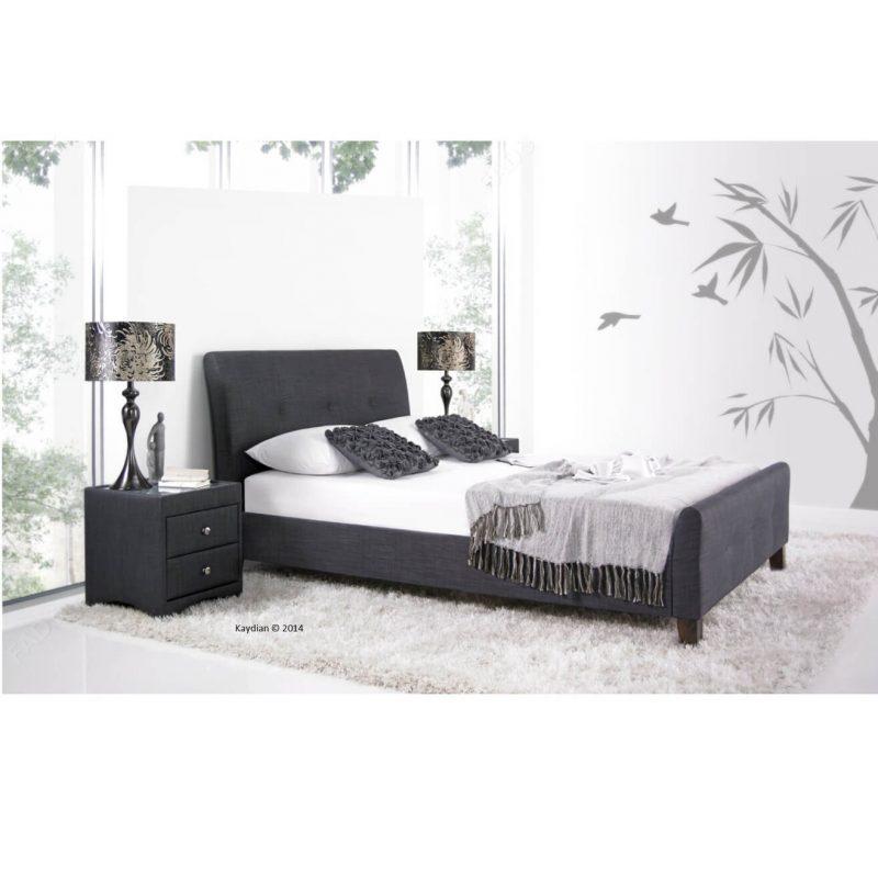 Kaydian Amble Slate grey fabric bed frame