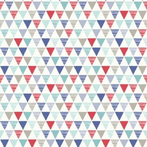 Bunting Geometric Blue & Red Wallpaper 1