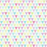 Bunting Geometric Multi Coloured Wallpaper