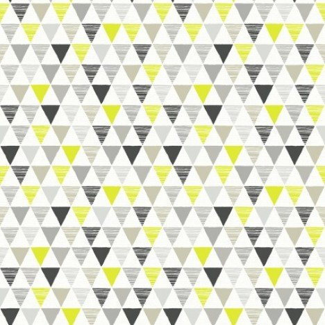 Bunting Geometric, Black, Lime, Grey Wallpaper