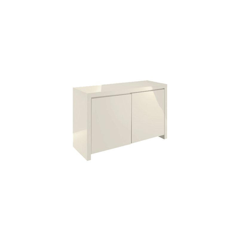 Puro high gloss cream sideboard 2 door