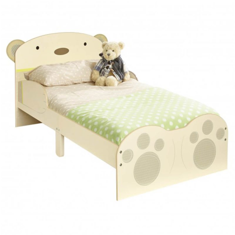 BabyBear Single Toddler Bed Neutral With Bear Character