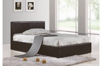 Berlin Ottoman Storage Bed Faux Leather Black 1